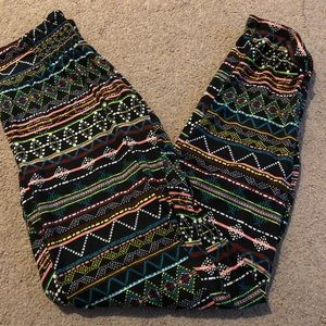 Aeropostale tribal print pants